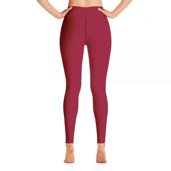 (Jester Red) Her Everyday Yoga Pants on woman. Featuring high waist yoga leggings