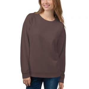 Her Everyday Sweatshirt (Brown Granite) on woman's front