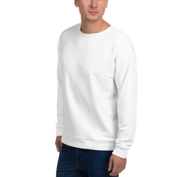 His Everyday Sweatshirt (New Moon) on man's front angle 2