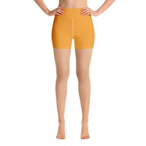 (Mango Mojito) Her Everyday Yoga Shorts on woman. Featuring high waist yoga leggings