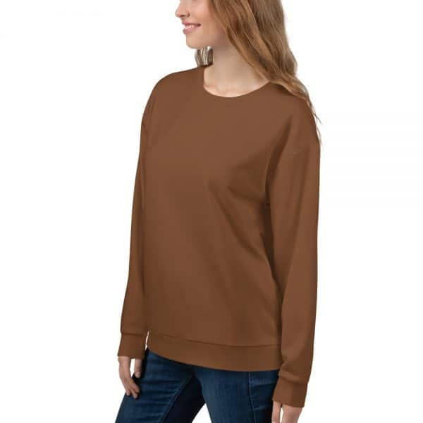 Her Everyday Sweatshirt (Toffee) on woman front angle