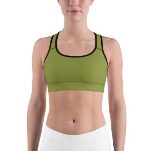 Her Everyday Sports Bra (Pepper Stem) on woman's front