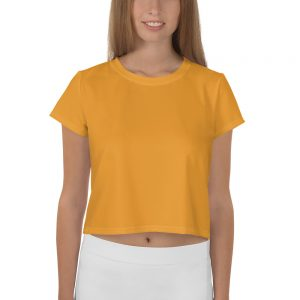 Her Everyday Cropped Tee on woman front (Mango Mojito)