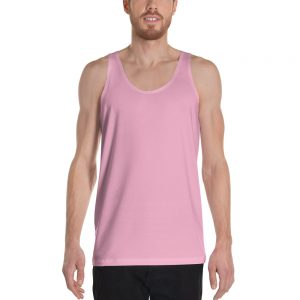 His Everyday Tank on man front (Sweet Lilac)