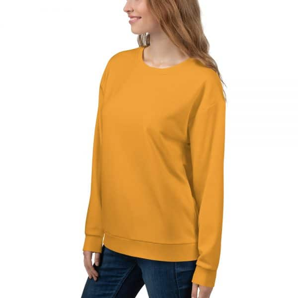 Her Everyday Sweatshirt (Mango Mojito) on woman front angle