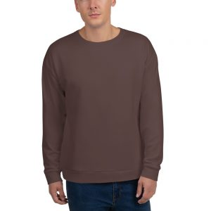 His Everyday Sweatshirt (Brown Granite) on man's front