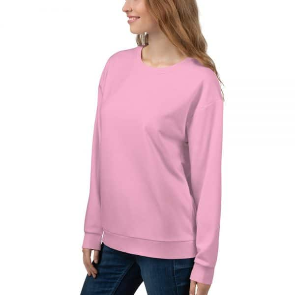 Her Everyday Sweatshirt (Sweet Lilac) on woman front angle
