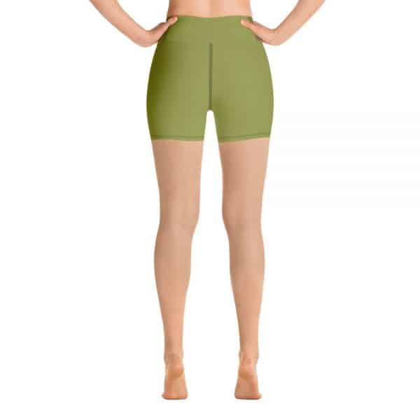 (Pepper Stem) Her Everyday Yoga Shorts on woman. Featuring high waist yoga leggings