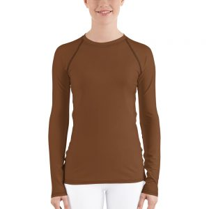 Her Everyday Rash Guard (Toffee) on woman's front