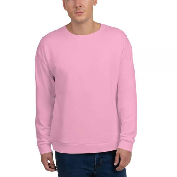 His Everyday Sweatshirt (Sweet Lilac) on man's front