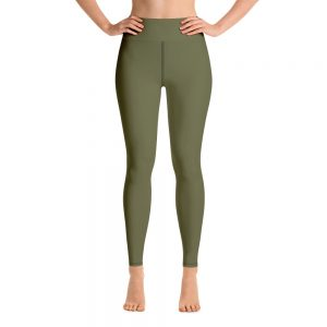 (Terrarium Moss) Her Everyday Yoga Pants on woman. Featuring high waist yoga leggings