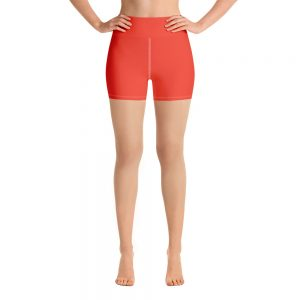 (Fiesta) Her Everyday Yoga Shorts on woman. Featuring high waist yoga leggings