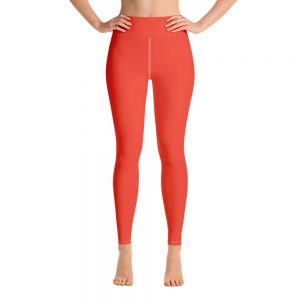 (Fiesta) Her Everyday Yoga Pants on woman. Featuring high waist yoga leggings