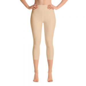 (Soybean) Her Everyday Capri Yoga Pants on woman. Featuring high waist yoga leggings