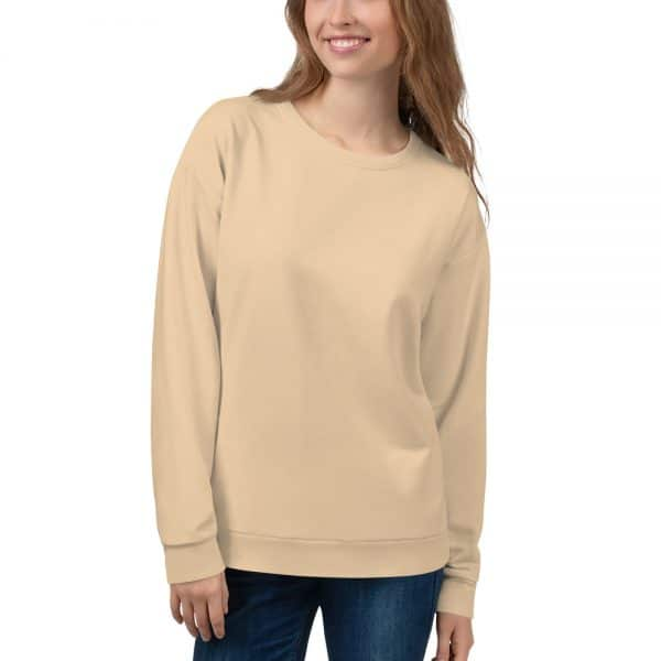 Her Everyday Sweatshirt (Soybean) on woman's front