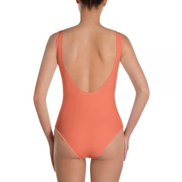 Her Everyday One-Piece Swimsuit (Living Coral) on woman back