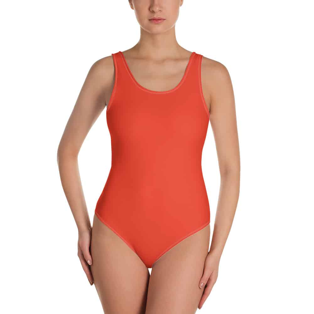 Her Everyday One-Piece Swimsuit (Fiesta) on woman front