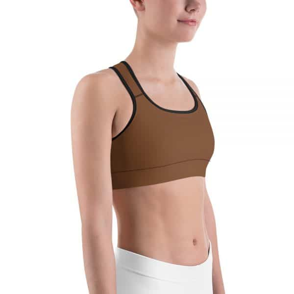Her Everyday Sports Bra (Toffee) on woman front angle