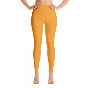 (Mango Mojito) Her Everyday Yoga Pants on woman. Featuring high waist yoga leggings