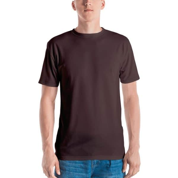 His Everyday T-shirt on man front (Brown Granite)