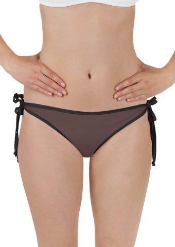 Her Everyday Bikini Bottom (Brown Granite) on woman front