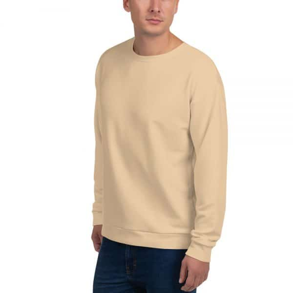 His Everyday Sweatshirt (Soybean) on man front angle
