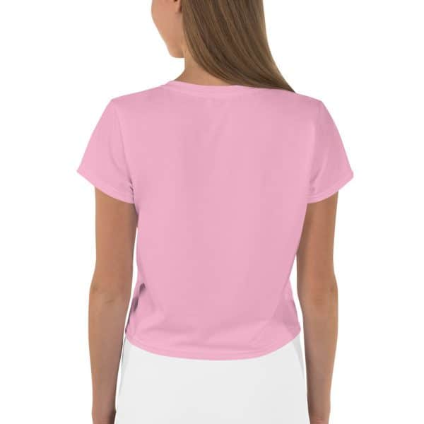 Her Everyday Cropped Tee on woman back (Sweet Lilac)