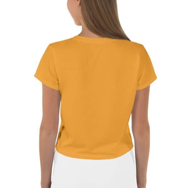 Her Everyday Cropped Tee on woman back (Mango Mojito)