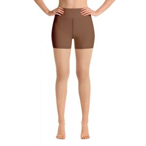 (Toffee) Her Everyday Yoga Shorts on woman. Featuring high waist yoga leggings