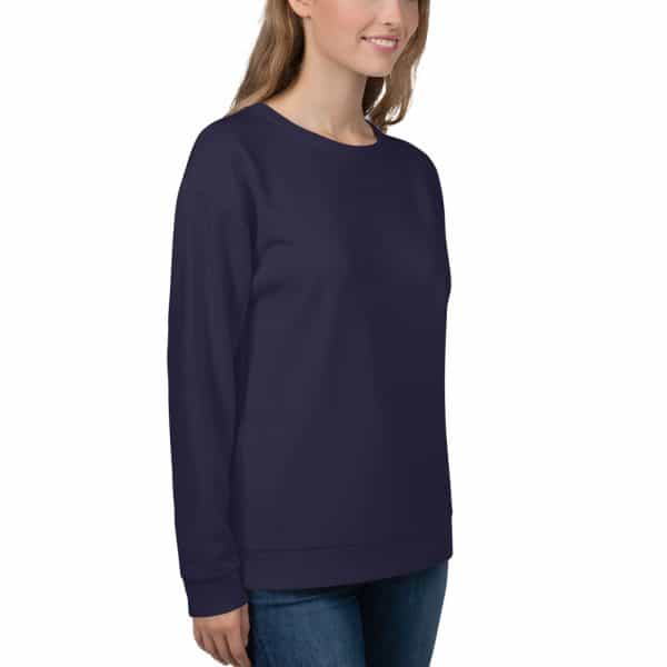 Her Everyday Sweatshirt (Eclipse) on woman front angle 2