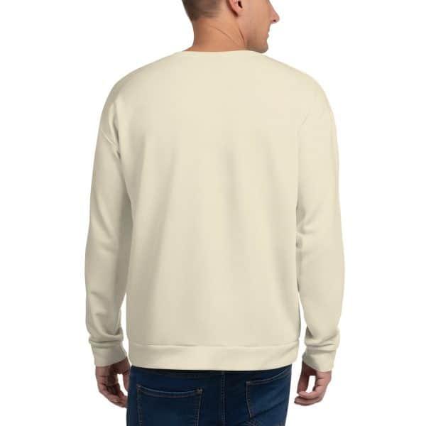 His Everyday Sweatshirt (Sweet Corn) on man's back