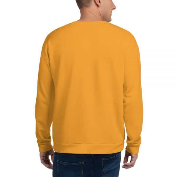 His Everyday Sweatshirt (Mango Mojito) on man's back