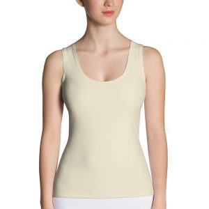 Her Everyday Tank Top (Sweet Corn) on woman's front