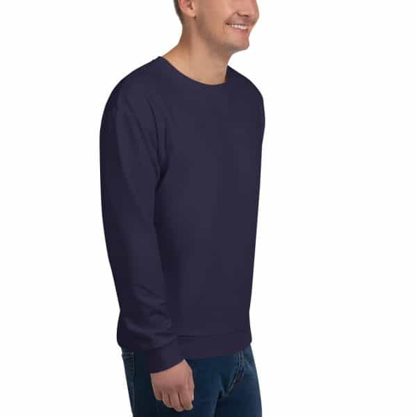 His Everyday Sweatshirt (Eclipse) on man front angle 2