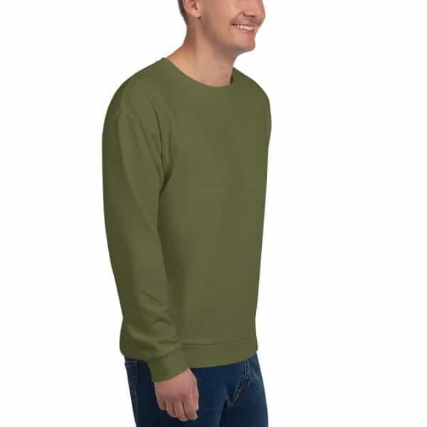 His Everyday Sweatshirt (Terrarium Moss) on man front angle 2