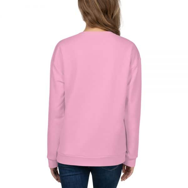 Her Everyday Sweatshirt (Sweet Lilac) on woman's back