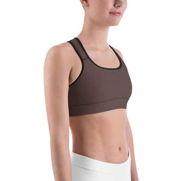 Her Everyday Sports Bra (Brown Granite) on woman front angle