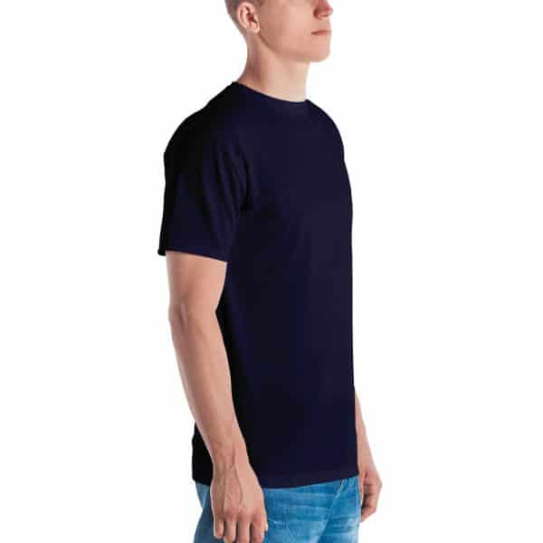 His Everyday T-shirt on man front angle (Eclipse)