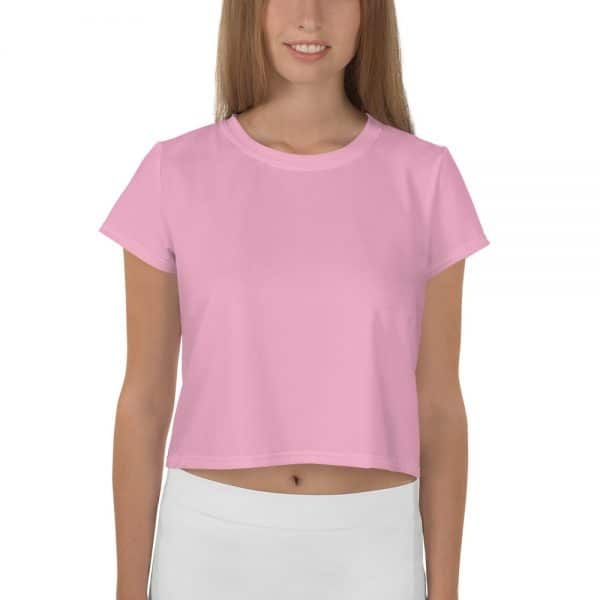 Her Everyday Cropped Tee on woman front (Sweet Lilac)