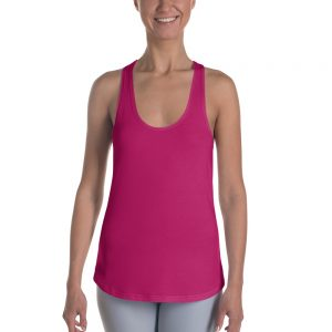 Her Everyday RacerBack (Pink Peacock) on woman's front