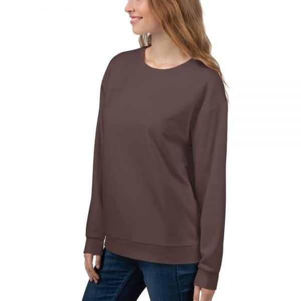 Her Everyday Sweatshirt (Brown Granite) on woman front angle