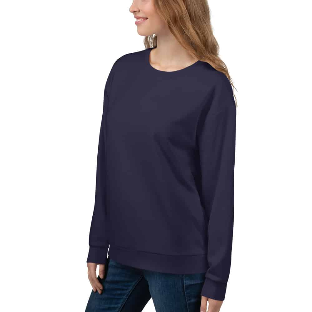 Her Everyday Sweatshirt (Eclipse) on woman front angle