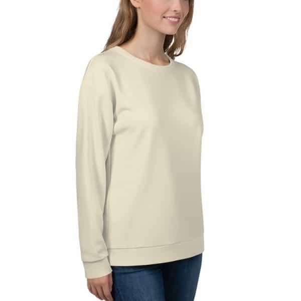 Her Everyday Sweatshirt (Sweet Corn) on woman front angle 2