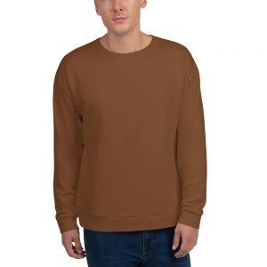 His Everyday Sweatshirt (Toffee) on man's front
