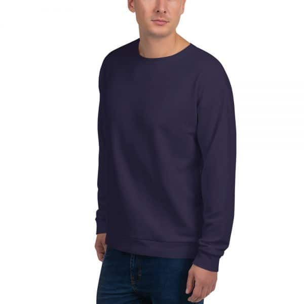 His Everyday Sweatshirt (Eclipse) on man front angle