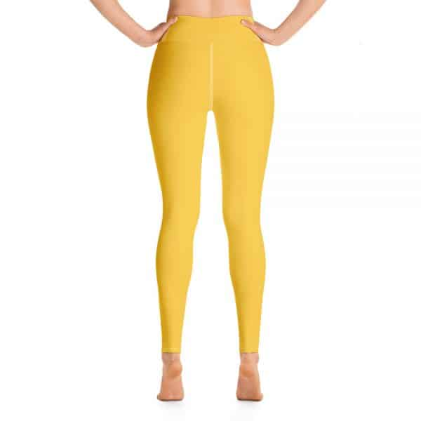 (Aspen Gold) Her Everyday Yoga Pants on woman. Featuring high waist yoga leggings