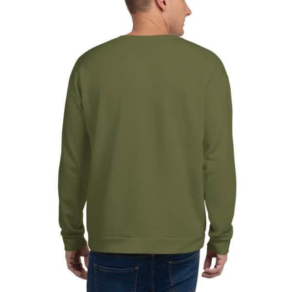 His Everyday Sweatshirt (Terrarium Moss) on man's back